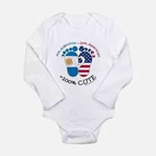 Argentinian American B Long Sleeve Infant Bodysuit