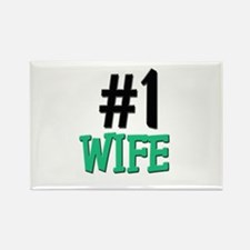 Number 1 WIFE Rectangle Magnet
