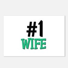 Number 1 WIFE Postcards (Package of 8)