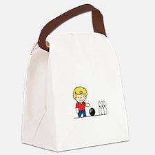 Bowling Boy Canvas Lunch Bag