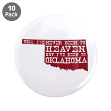 "Cute Red state 3.5"" Button (10 pack)"