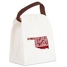 Cute Tulsa Canvas Lunch Bag