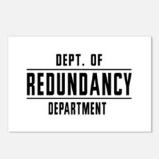 Dept. Of REDUNDANCY Department Postcards (Package