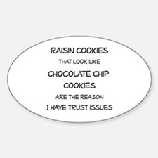 Raisin Cookies that look like Choco Sticker (Oval)