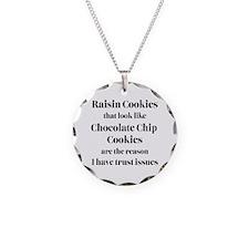 Raisin Cookies that look lik Necklace