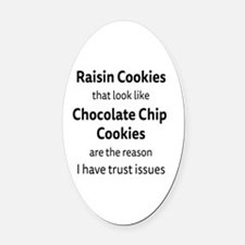 Raisin Cookies that look like Choc Oval Car Magnet