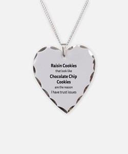 Raisin Cookies that look like Necklace