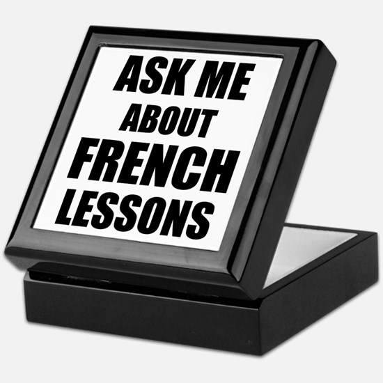 Ask me about French lessons Keepsake Box