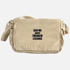 Ask me about French lessons Messenger Bag