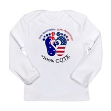 Australian American Bab Long Sleeve Infant T-Shirt
