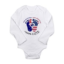 Australian American Ba Long Sleeve Infant Bodysuit