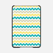 Teal Yellow Beige Chevron Pattern iPad Mini Case