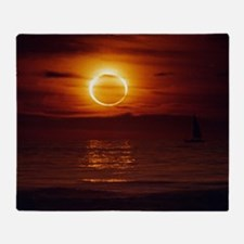 Cute Annular eclipse Throw Blanket