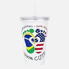 Brazilian American Bab Acrylic Double-wall Tumbler