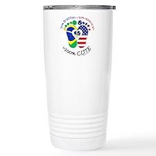 Brazilian American Baby Travel Mug