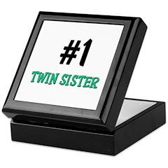 Number 1 TWIN SISTER Keepsake Box
