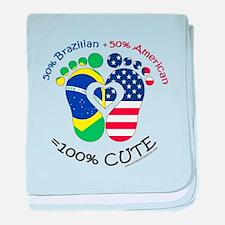 Brazilian American Baby baby blanket