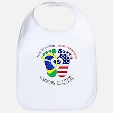 Brazilian American Baby Bib