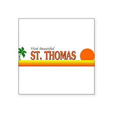 """St john usvi Square Sticker 3"""" x 3"""""""