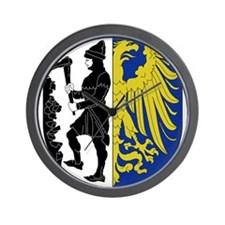 Eagle with shield Wall Clock