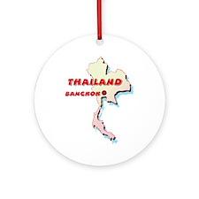 Thailand Map Ornament (Round)
