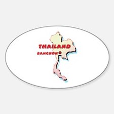 Thailand Map Oval Decal