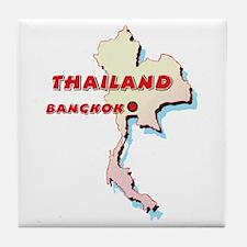 Thailand Map Tile Coaster
