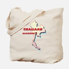 Thailand Map Tote Bag