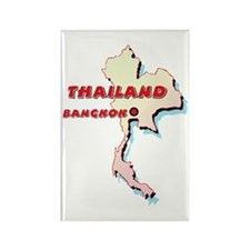 Thailand Map Rectangle Magnet