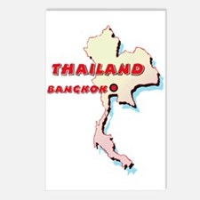 Thailand Map Postcards (Package of 8)
