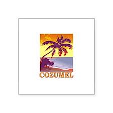 "Cute Cozumel Square Sticker 3"" x 3"""
