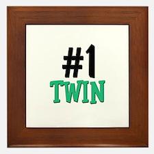 Number 1 TWIN Framed Tile
