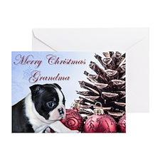 Merry Christmas Grandma Boston Greeting Cards