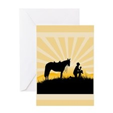 Praying Cowboy Greeting Card