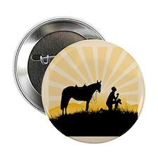 """Praying Cowboy 2.25"""" Button (100 pack)"""