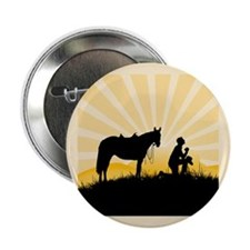 "Praying Cowboy 2.25"" Button"