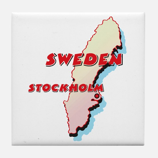 Sweden Map Tile Coaster