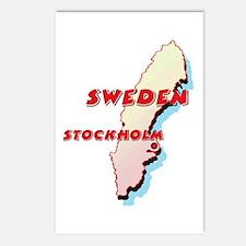 Sweden Map Postcards (Package of 8)