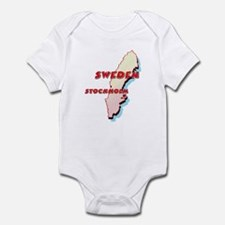 Sweden Map Infant Bodysuit