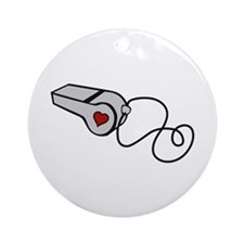 Heart Whistle Ornament (Round)