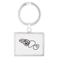 Heart Whistle Keychains