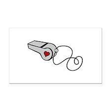 Heart Whistle Rectangle Car Magnet