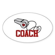 Coach Whistle Decal