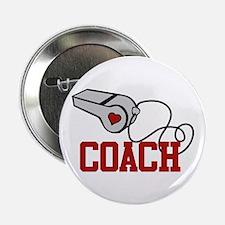 """Coach Whistle 2.25"""" Button"""