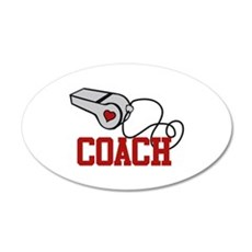 Coach Whistle Wall Decal