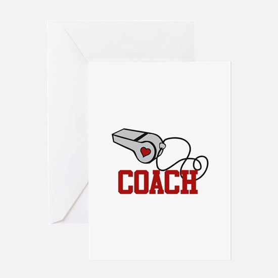 Coach Whistle Greeting Cards