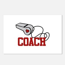Coach Whistle Postcards (Package of 8)
