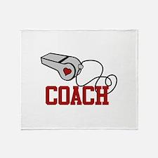 Coach Whistle Throw Blanket