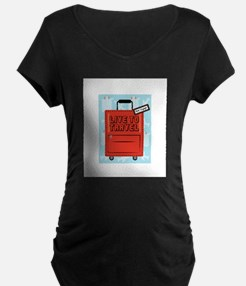 Live to Travel Maternity T-Shirt