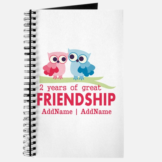 Gift For 2nd Anniversary Personalized Journal